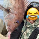 ショアジギングで63cmの真鯛釣ったどー!福井・越前海岸の釣果報告